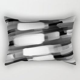 Racing City Lights - Black and White Rectangular Pillow