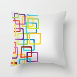 Rounded edge squares in multiple colors Throw Pillow