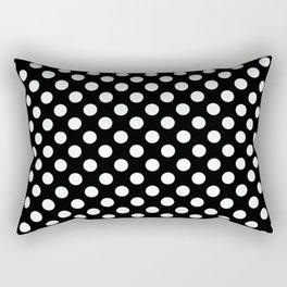 Black & White Classic Polka Dots Pin Up Rectangular Pillow