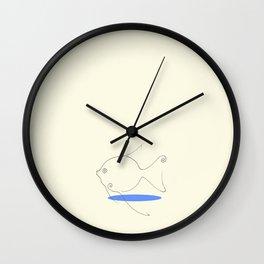Big Fish Small Pond Wall Clock