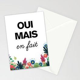 flowers - Oui mais en fait Stationery Cards