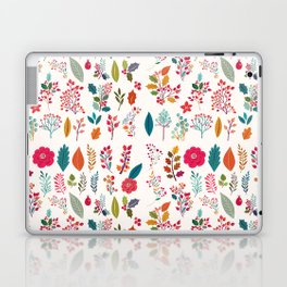 Colorful fall orange pink ivory holly berries floral Laptop & iPad Skin