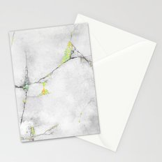 Yellow Cracked Design Stationery Cards