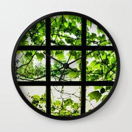 Through the Green Green Glass Wall Clock
