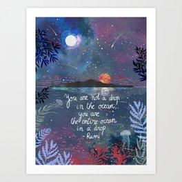 Rumi Quote Art Print