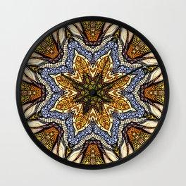Magic flowers mandala Wall Clock