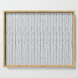 Knit Wave Grey Serving Tray