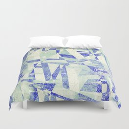 crooked quilt Duvet Cover