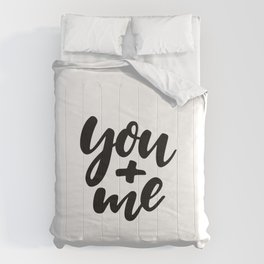 You and Me | Typography Comforters