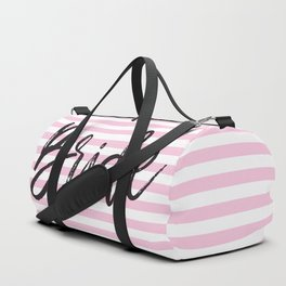 Bride Pink and White Stripes Duffle Bag