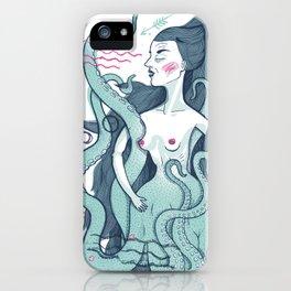 Octopus lady iPhone Case