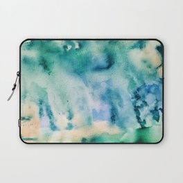 Watercolor abstract many color no.16 Laptop Sleeve