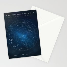 Constellation Star Map Stationery Cards