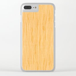 Beige tone pattern texture cloth abstract, Clear iPhone Case