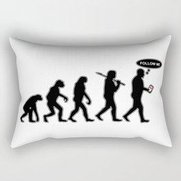Human Evolution - Follow me #society6 #decor #buyart #artprint Rectangular Pillow