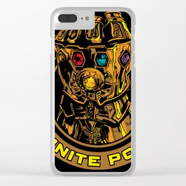 Infinity Gauntlet Clear iPhone Case