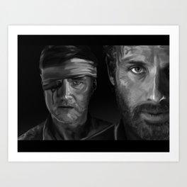 Rick and The Governor Art Print