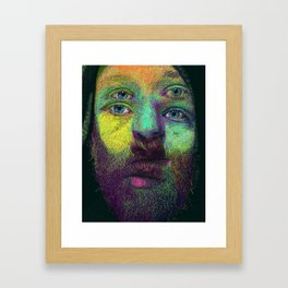 String theory color study II Framed Art Print