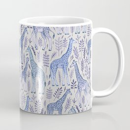 Blue Giraffe Pattern Coffee Mug