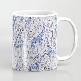 Blue Giraffe Pattern Coffee Mug