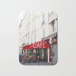 Cafe in Paris Bath Mat