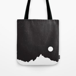 Mountain Sky Night Tote Bag