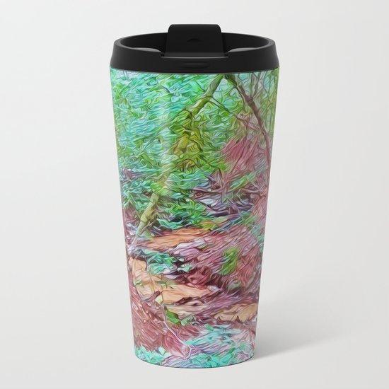 Abstract Forest Metal Travel Mug