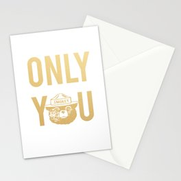 Smokey the Bear says ONLY YOU Stationery Cards