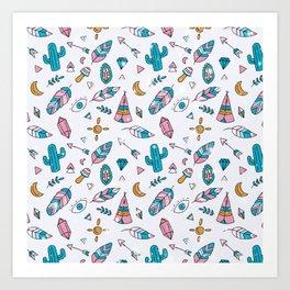 Boho Cactus Art Print