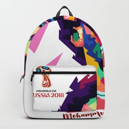 Mohammad Salah In Pop  Art Backpack