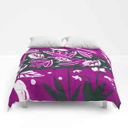 Hedgehog - Fuchsia Palette Comforters