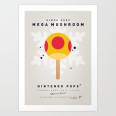 My NINTENDO ICE POP - Mega Mushroom Art Print