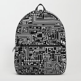Circuit Board on Black Backpack