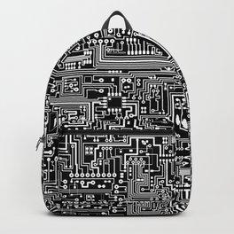 Circuit Board on Black Backpack