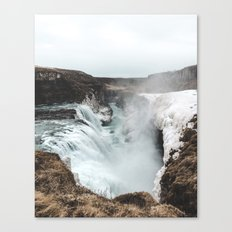 Gullfoss - Landscape Photography Canvas Print