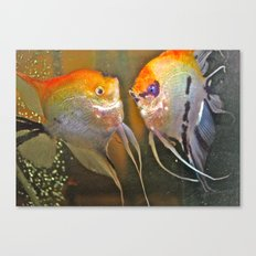 VAL & TINE ANGELS Canvas Print