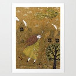 Autumn Kite Art Print