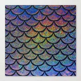 Cobalt Cantaloupe Scales Canvas Print