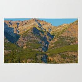 Evening light on Mt. Kerkeslin in Jasper National Park Rug