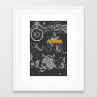 boat Framed Art Prints featuring Boat by inktheboot