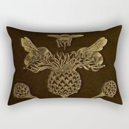 Bee And Thistle Rectangular Pillow
