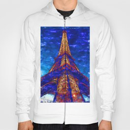 Eiffel Tower Light Glow By Sunset. For Eiffel Tower & Paris Lovers. Hoody