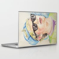 niall horan Laptop & iPad Skins featuring Niall Horan glasses by vanessa