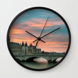Paris by night France Wall Clock