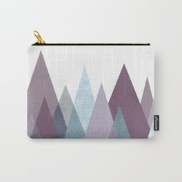 PLUM TURQUOISE MOUNTAINS GEOMETRIC Carry-All Pouch