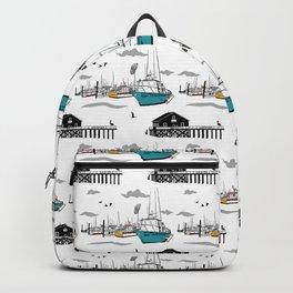 Tillamook Coast Travel Print Backpack