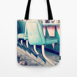 Retro Diner Photograph, kitchen art, restaurant decor, shabby chic, vintage, pastels, mint and pink Tote Bag