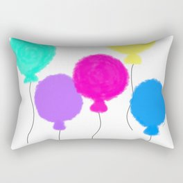 Fly Freely - colorful balloon illustration Rectangular Pillow