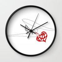 princess Wall Clocks featuring PRINCESS by Vanja Cankovic