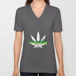 Cannabis | Marijuana Weed Pot Head Gifts Unisex V-Neck
